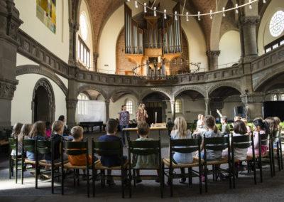 Orgelentdeckertag mit Kirchenmusikstudentin Isabelle Grupe und Philosophiestudentin Josephine Werth in der Markuskirche Hannover | Bild: Anna-Kristina Bauer